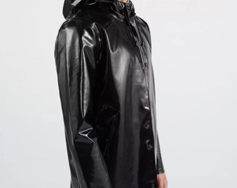 Man's Raincoat from Laminated polyurethane. Wind & Water resistant coat. Free shipping!!