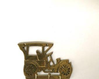 Vintage Brass Old Fashioned Car Key Holder