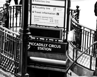 Piccadilly Circus Station, London