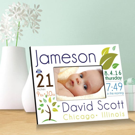 Personalized baby announcement picture frames personalized baby personalized baby announcement picture frames personalized baby picture frames baby gifts birth announcement gc1552 from creativebyclair on etsy negle Gallery