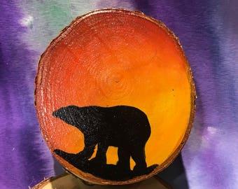 Birch slice artwork