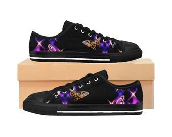 Dazzling Butterfly Womens Sneakers