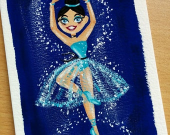 Totally Teal ballerina painting