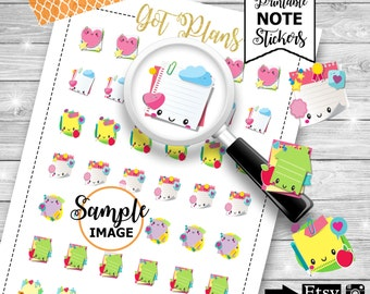 Sticky Notes Planner Stickers, Planner Printables, Stickers For Planners, Printable Planner Stickers, Decorating Stickers, Planner Decor
