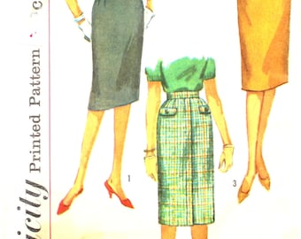 1960's Set of Skirts One with Scalloped Pocket Waist 24 Simplicity 3626