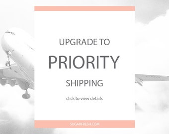 Upgrade Shipping - USPS Priority Mail - 1-3 Days (US Customers Only)