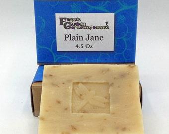 Unscented Facial Soap, Plain Jane Goatmilk Soap, Oatmeal Soap, Handmade Face Soap, Exfoliating Soap,