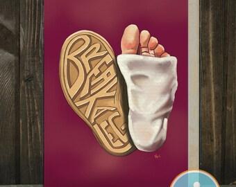 Break A Leg: A Good Luck Card