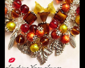 Thanksgiving Jewelry - Fall Jewelry - Autumn Jewelry - Fall Necklace - Thanksgiving In The Air - Fall Bracelet - Autumn Bracelet