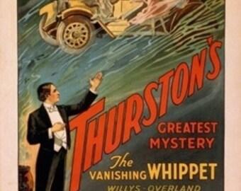 Thurston's Vanishing Whippet Willys-Overland Magic Poster (Art Prints available in multiple sizes)