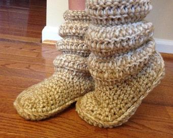 Crocheted Slipper Booties