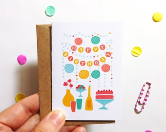 Happy Birthday Party Card MINI - Everyday