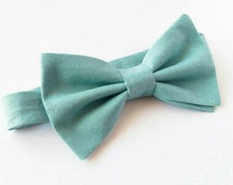 Mint Green Bowtie / Green Bowtie / Mint Bowtie / Mint Green Wedding / wedding bowtie / mens bowtie / baby bowtie / boys bowtie / ring bearer