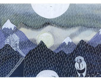 Rain (Limited Edition Giclee Art Print)