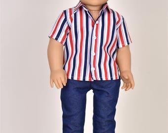 18 inch Boy Doll Clothes Shirt