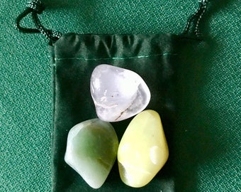 Prosperity & Abundance ~ 3 Stone *Charged Crystal* Kit