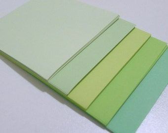 Cool Colors - Dewy Green Whispers Construction Paper Pack - 12.5cm x 17.5cm - 22 sheets