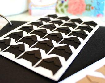Black Photo Corners Stickers - 3 Sheets 72pcs, Scrapbooking Embellishment, DIY Journal Stickers, Diary Photo Album, Self-Adhesive