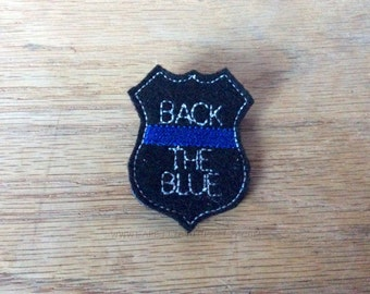 Back the blue badge, police badge pin, first responder pin, dress up badge, custom pin, police pin, party favor, party supplies, badge pin