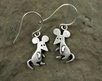 Tiny mouse earrings