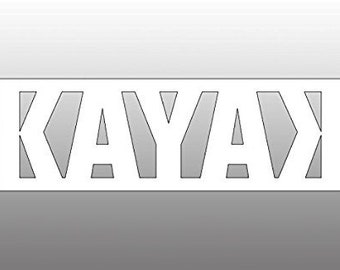 White Vinyl KAYAK with backward K Sticker (no bg kayaking yak iyak)