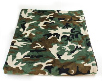 Camo Minky Baby Blanket Boy, Green Brown Camouflage Blanket Personalized Baby Blanket, Camo Baby Blanket, Hunter Baby Blanket