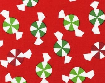 Christmas fabric, patchwork fabric candy Christmas Jingle Kaufman in coupon