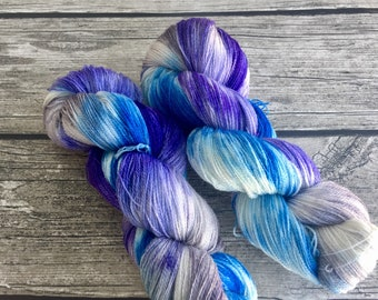 The Moon Is Reaching For Me - Superwash Merino Hand Dyed Yarn - Lace Weight yarn - Hand Dyed Yarn - Hand Dyed Lace Yarn - Indie Dyed Yarn
