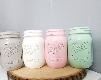 Set of 4 pint size mason jars