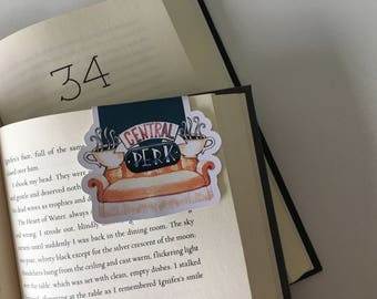 Friends Central Perk Magnetic Bookmark //