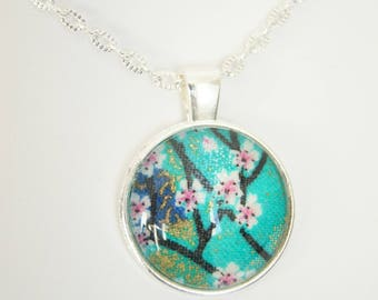 Sakura necklace on chain
