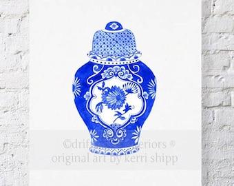 Ginger Jar in Cobalt 11x14