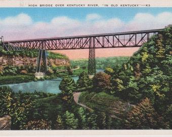 Kentucky River, Kentucky, High Bridge - Vintage Postcard - Postcard - Unused (LLL)