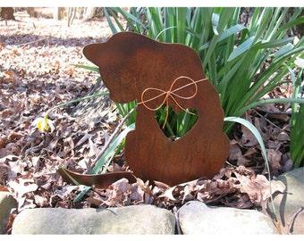 Cat Metal Garden Stake - Metal Yard Art - Metal Garden Art - Pet Memorial - Design 2