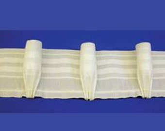 Goblet Pleat Tape by Rowley DIY Curtains Draperies 6 Yards