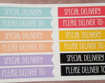 Happy Mail Delivery Stickers