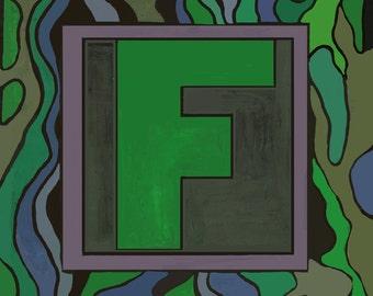 Alphabet letter F