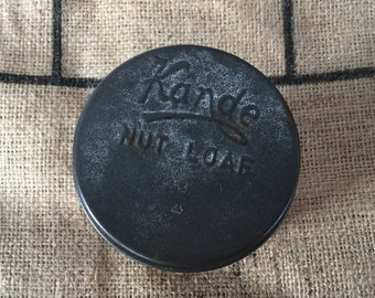 Small Kande nut loaf tin Vintage kitchen Rustic decor Photo styling prop