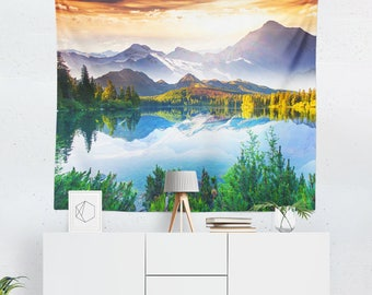 Wall Tapestry | Wall Art | Wall Tapestries | Wall Hanging | Lake Tapestry | Scenic Tapestry | Mountain Tapestry | Scenic Wall Decor