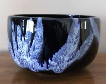 Vintage BMP Blue Mountain Pottery Granite Cobalt Bowl Planter drip glaze