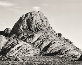 Spitzkoppe, Namibia, Africa, landscape photography, fine art photography, sepia print, home decor, granite mountain, rock formation,