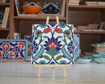 """Turkish Mosque tiles - Set of four - each size 8""""x8"""" 20cmx20cm"""