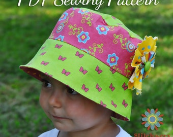 Bucket Hat PDF Sewing Pattern S107CHLD, Baby, Infant, Toddler, Child, Boy, Girl Hat Sewing Pattern