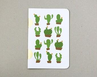 Cactus Notebook / book cactus / A5 / handmade / handmade