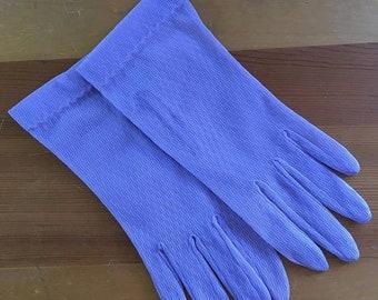 30% Off Sale Vintage Lavender Sheer Mesh Wrist Gloves, Size Small