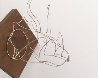 Triceratops Faux Taxidermy, Wire Taxidermy Dinosaur