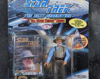 1995 Star Trek Next Generation All Good Things Captain Picard Action Figure New In Package by Playmates - Retired Starfleet Captain