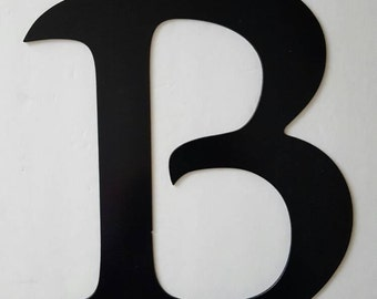 Letter B Metal Home Decor. Painted Black. Home, Office Decor.  Wedding Decor. Housewarming or Birthday Gift!  Ready to Ship!
