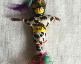 Voodoo GIft,Voodoo Doll,Voodoo Magnet,Mardis Gras Gift,Fridge Magnet,Ceremonial Doll,Magnet Collection,Unusual Magnet,Luck Decor,Lucky GIft