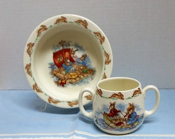 Royal Doulton Bunnykins Cup and Bowl